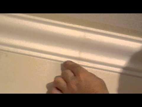 Покраска потолчного плинтуса(багета)подготовка