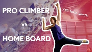 PROFESSIONAL CLIMBER Sofie Paulus CRUSHES the home board! 🧗🏻‍♀️ & I test my MAXIMUM stre by Anna Hazelnutt