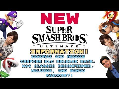 NEW Smash Ultimate INFO! SAKURAI & REGGIE TALK DLC RELEASE DATES, N64 CLASSIC, AND BANJO KAZOOIE!