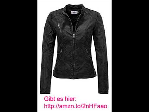 ONLY Damen Jacke schwarz Lederjacke Damenjacke