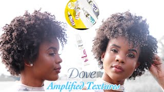 Dove Amplified Textures natural hair product line review (only $7😱) + Twist out on 4c hair wash day