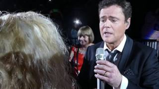 Donny Osmond sings The Twelfth Of Never to my friend and me following our Purple Card moment!
