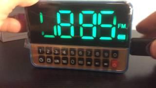 Портативная колонка с часами, AUX и USB Wster WS-1513 от компании MediaShop (067) 170-07-02              (093) 344-31-21 - видео