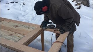 TIMBER FRAME BUILD -- handmade doors from milled slabs (with joinery)