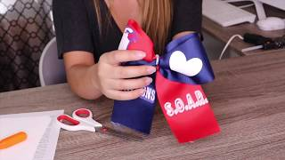 DIY Cheer Bow With Inkjet Printable Heat Transfer Vinyl | Craftables