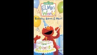 Closing To Elmos World Birthdays Games And More 2001 VHS