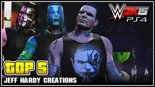 WWE 2K15 - Top 5 Jeff Hardy CAWS - Community Creations (PS4)
