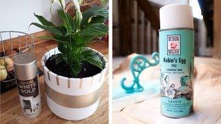 DIY Video. 33 Decor ideas with Spray Paint.