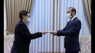La nouvelle ambassadrice de France en Arménie a présenté les copies de ses lettres de créance au ministre des Affaires étrangères d'Arménie