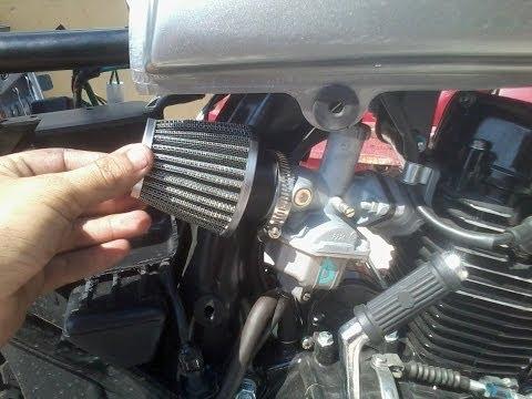 Filtro de alto flujo a moto Italika 125cc