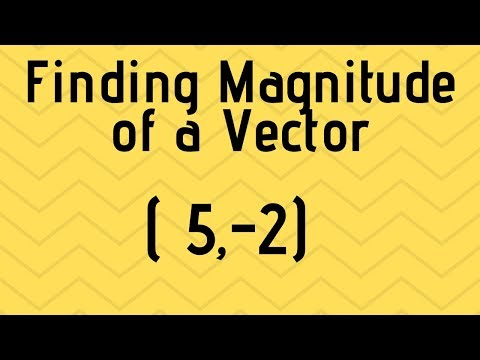 Find the magnitude of a vector from component form-Precalculas