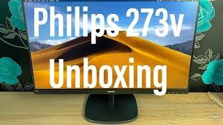 Philips 273V7 LCD Full HD V Line Budget Monitor Unboxing & Setup