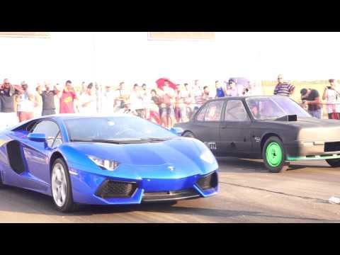 Lamborghini Aventador LP 800HP vs BMW E30 (3.2 M3) TURBO 780HP