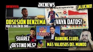 ¡ALUCINO Con ESTOS DATOS! · MESSI REGATEADOR De LIGA · ENTREVISTA BENZEMA · ¿SUÁREZ A La MLS?
