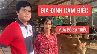 """Khương Dừa đi mua bò 20 triệu trao cho """"GIA ĐÌNH CÂM ĐIẾC"""", mừng rơi nước mắt!!!"""