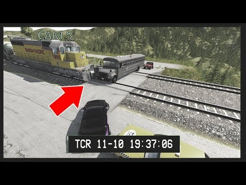 BeamNG Drive - Train Accidents #7 CCTV Edition