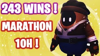 🔴 HELLO ! MARATHON 10H SUR FALL GUYS #1 ! ✌ I 243 WINS  🏆 / LVL MAX ✅