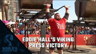 2017 Worlds Strongest Man | Eddie Halls Viking Press Victory