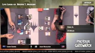 Pro Tour Oath of the Gatewatch Round 7 (Modern): Raymond Perez, Jr. vs. Martin Muller