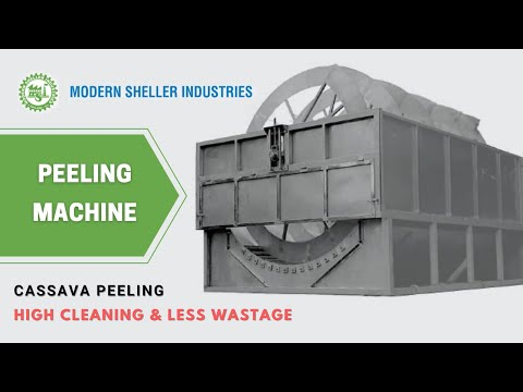 Tapioca Peeling Machine