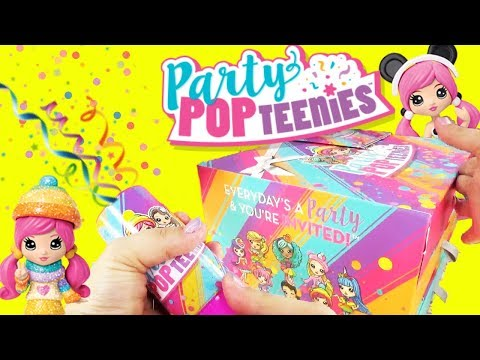 Party Pop Teenies Party Popper Surprise Toys with LOL Surprise Unicorn and Frozen's Elsa