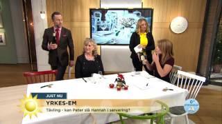 Här Gör Peter Jihde Alla Fel I Serveringstävlingen - Nyhetsmorgon (TV4)