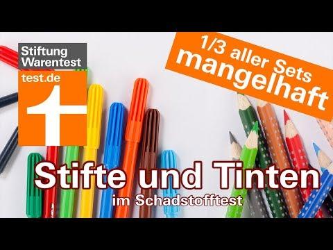 Schadstoffe in Stiften und Tinte (Test 2018): 1/3 aller Sets mangelhaft