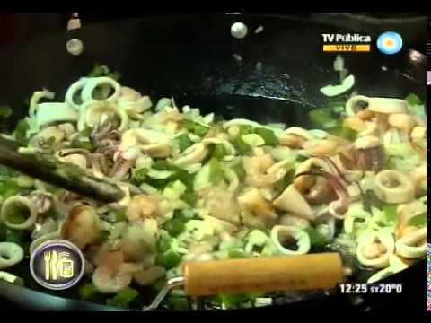 Rolly Serrano, paella de mariscos