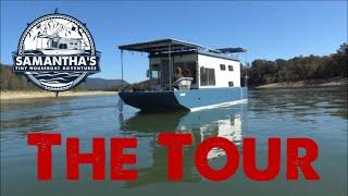 Tiny Houseboat Tour / Walk Through