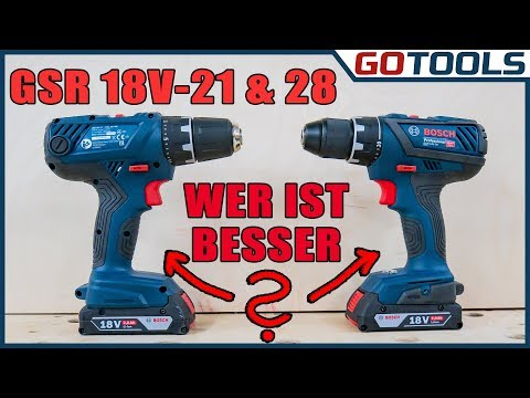 Bosch Akkubohrschrauber GSR 18V-28 und GSR 18V-21 im Vergleich