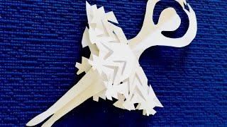 DIY. Как просто сделать Снежинку- Балеринку из бумаги. Поделки на Новый Год своими руками.