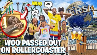 SURPRISED THE KIDS WITH A TRIP TO UNIVERSAL STUDIOS 😱& WOO PASSED OUT ON ROLLERCOASTER….🎢