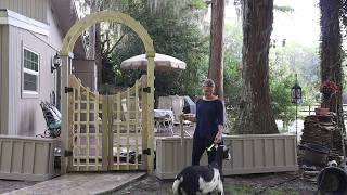 How To Build An Arched Arbor With Double Gate