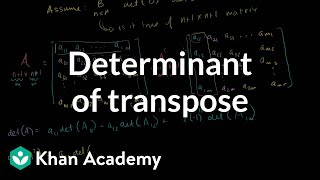 Linear Algebra:  Determinant of Transpose