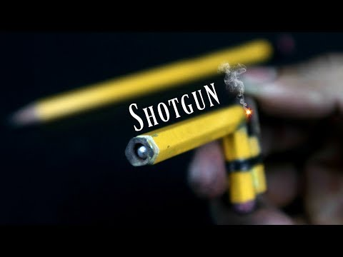 How To Make Mini Weapon Pocket Gun from Pencil