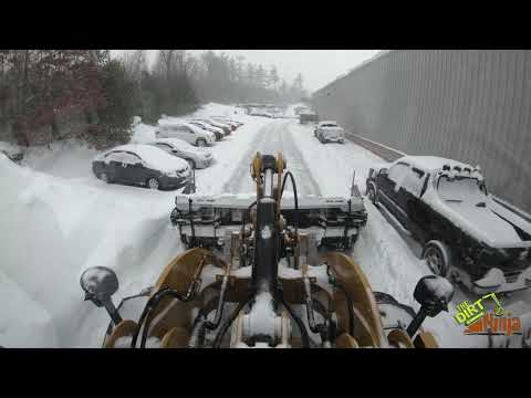 MetalPless MaxxPro and Cat 926M Plowing Snow Storm