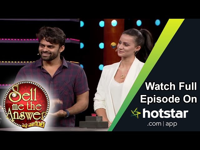 Sai Dharam Tej & Larissa at Sell Me The Answer – 14th August 2016 – Full Episode
