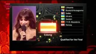 Eurovision 2012 Semi Final 2 Qualifiers BBC