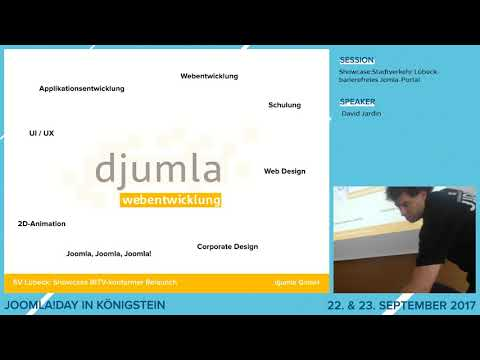 JD17DE - Showcase: Stadtverkehr Lübeck - barrierefreies Joomla-Portal