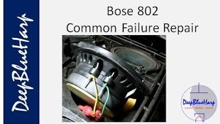 Bose 802 Common Failure and Repair