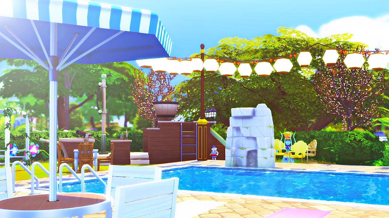 Pool Bauen In Thailand The Sims 4 Speed Build Pool Park