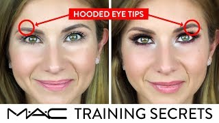 HOODED EYE TIPS For DAY And NIGHT LOOK | MAC Training Secrets Revealed