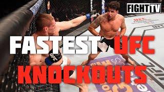 САМЫЕ БЫСТРЫЕ НОКАУТЫ В UFС / FASTEST UFC KNOCKOUTS