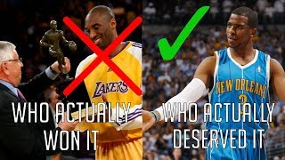 6 Times The NBA MVP Voters Got It WRONG...