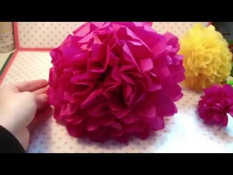 Blumen Girlande aus Seidenpapier