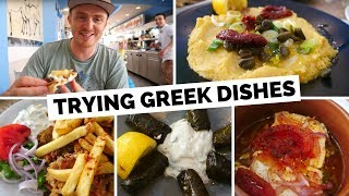 Greek Food Review | Trying Traditional Greek Dishes in Santorini, Greece