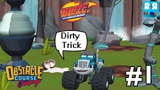 Blaze The Monster Machine: Obstacle Course - Crusher Play Dirty Trick #1