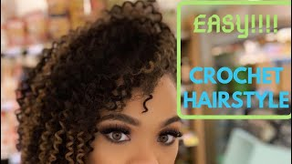 CROCHET NATURAL LOOKING STYLE ON HALF SHAVED 4C HAIR