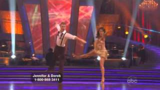 Jennifer Grey and Derek Hough Dancing with the stars WK 2 Jive
