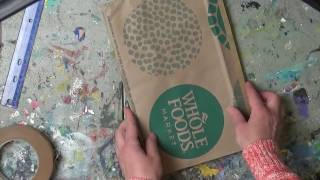 How To Make  Art Journal From Brown Shopping Paper Bags